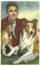 act012138 - Laddie, Peter Lawford, & Lassie Trade Card Actor, Actress, Movie Star, Postcard Post Card