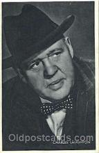 act012139 - Charles Laughton Trade Card Actor, Actress, Movie Star, Postcard Post Card