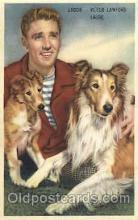 act012140 - Laddie, Peter Lawford, & Lassie Trade Card Actor, Actress, Movie Star, Postcard Post Card