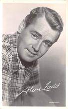 act012225 - Alan Ladd Movie Star Actor Actress Film Star Postcard, Old Vintage Antique Post Card