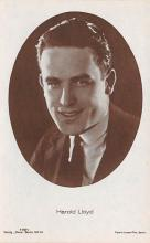act012243 - Harold Lloyd Movie Star Actor Actress Film Star Postcard, Old Vintage Antique Post Card