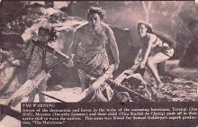 act012258 - The Warning, Teranig, Jon Hall and Marama, Dorothy Lamour Movie Star Actor Actress Film Star Postcard, Old Vintage Antique Post Card