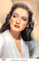 act012280 - Dorothy Lamour Movie Star Actor Actress Film Star Postcard, Old Vintage Antique Post Card