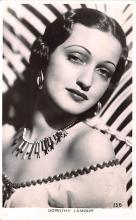 act012305 - Dorothy Lamour Movie Star Actor Actress Film Star Postcard, Old Vintage Antique Post Card