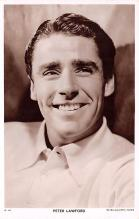 act012309 - Peter Lawford Movie Star Actor Actress Film Star Postcard, Old Vintage Antique Post Card