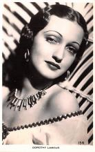 act012316 - Dorothy Lamour Movie Star Actor Actress Film Star Postcard, Old Vintage Antique Post Card