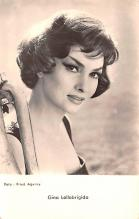 act012320 - Gina Lollobrigida Movie Star Actor Actress Film Star Postcard, Old Vintage Antique Post Card