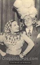 act013012 - Carmen Miranda & Tom Breneman Actress / Actor Postcard Post Card Old Vintage Antique