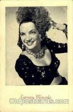act013046 - Carmen Miranda Actress / Actor Postcard Post Card Old Vintage Antique