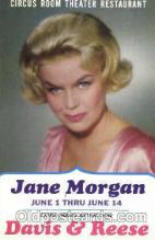 act013073 - Jane Morgan Actor, Actress, Movie Star,  Actress / Actor Postcard Post Card Old Vintage Antique