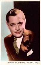 act013243 - Robert Montgomery Movie Star Actor Actress Film Star Postcard, Old Vintage Antique Post Card