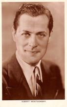 act013244 - Robert Montgomery Movie Star Actor Actress Film Star Postcard, Old Vintage Antique Post Card