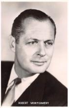 act013246 - Robert Montgomery Movie Star Actor Actress Film Star Postcard, Old Vintage Antique Post Card