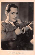 act013254 - Robert Montgomery Movie Star Actor Actress Film Star Postcard, Old Vintage Antique Post Card