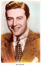 act013258 - Ray Milland Movie Star Actor Actress Film Star Postcard, Old Vintage Antique Post Card