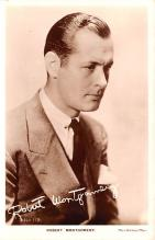 act013273 - Robert Montgomery Movie Star Actor Actress Film Star Postcard, Old Vintage Antique Post Card
