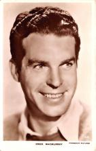 act013276 - Fred MacMurray Movie Star Actor Actress Film Star Postcard, Old Vintage Antique Post Card