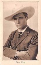 act013282 - Tom Mix Movie Star Actor Actress Film Star Postcard, Old Vintage Antique Post Card