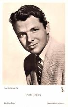 act013283 - Audie Murphy Movie Star Actor Actress Film Star Postcard, Old Vintage Antique Post Card