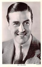 act013285 - Ray Milland Movie Star Actor Actress Film Star Postcard, Old Vintage Antique Post Card
