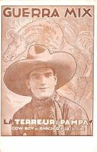 act013288 - Guerra Mix, La Terreur des Pampas Movie Star Actor Actress Film Star Postcard, Old Vintage Antique Post Card