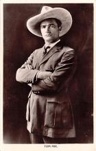 act013292 - Tom Mix Movie Star Actor Actress Film Star Postcard, Old Vintage Antique Post Card