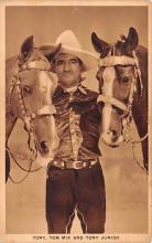 act013301 - Tony, Tom Mix & Tony Junior Movie Star Actor Actress Film Star Postcard, Old Vintage Antique Post Card