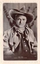 act013302 - Tom Mix, Cinema Star Movie Star Actor Actress Film Star Postcard, Old Vintage Antique Post Card