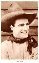 act013307 - Tom Mix Movie Star Actor Actress Film Star Postcard, Old Vintage Antique Post Card