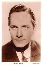 act013326 - Fredric March Movie Star Actor Actress Film Star Postcard, Old Vintage Antique Post Card