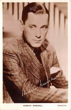 act013328 - Herbert Marshall Movie Star Actor Actress Film Star Postcard, Old Vintage Antique Post Card