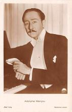 act013330 - Adolphe Menjou Movie Star Actor Actress Film Star Postcard, Old Vintage Antique Post Card