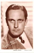 act013344 - Fredric March Movie Star Actor Actress Film Star Postcard, Old Vintage Antique Post Card