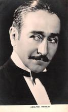 act013353 - Adolphe Menjou Movie Star Actor Actress Film Star Postcard, Old Vintage Antique Post Card
