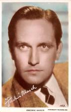 act013358 - Fredric March Movie Star Actor Actress Film Star Postcard, Old Vintage Antique Post Card
