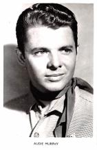 act013361 - Audie Murphy Movie Star Actor Actress Film Star Postcard, Old Vintage Antique Post Card