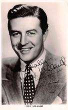 act013365 - Ray Milland Movie Star Actor Actress Film Star Postcard, Old Vintage Antique Post Card