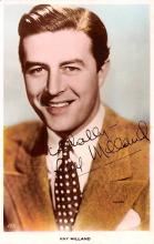 act013369 - Ray Milland Movie Star Actor Actress Film Star Postcard, Old Vintage Antique Post Card