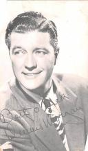 act013370 - Dennis Morgan Movie Star Actor Actress Film Star Postcard, Old Vintage Antique Post Card