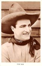 act013371 - Tom Mix Movie Star Actor Actress Film Star Postcard, Old Vintage Antique Post Card