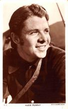act013378 - Audie Murphy Movie Star Actor Actress Film Star Postcard, Old Vintage Antique Post Card