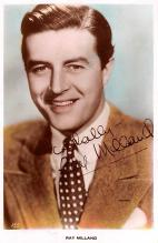 act013401 - Ray Milland Movie Star Actor Actress Film Star Postcard, Old Vintage Antique Post Card