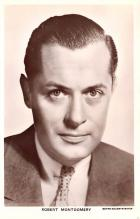 act013405 - Robert Montgomery Movie Star Actor Actress Film Star Postcard, Old Vintage Antique Post Card