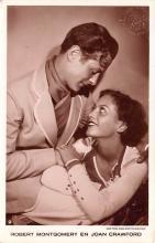 act013406 - Robert Montgomery en Joan Crawford Movie Star Actor Actress Film Star Postcard, Old Vintage Antique Post Card