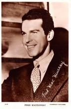 act013410 - Fred MacMurray Movie Star Actor Actress Film Star Postcard, Old Vintage Antique Post Card