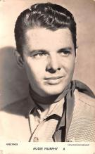 act013413 - Audie Murphy Movie Star Actor Actress Film Star Postcard, Old Vintage Antique Post Card