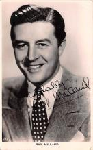 act013417 - Ray Milland Movie Star Actor Actress Film Star Postcard, Old Vintage Antique Post Card