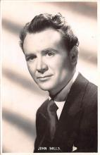 act013424 - John Mills Movie Star Actor Actress Film Star Postcard, Old Vintage Antique Post Card