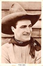 act013427 - Tom Mix Movie Star Actor Actress Film Star Postcard, Old Vintage Antique Post Card