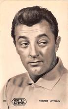 act013431 - Robert Mitchum Movie Star Actor Actress Film Star Postcard, Old Vintage Antique Post Card